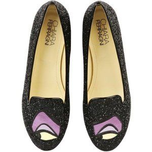 Chiara Ferragni Maleficent Rare Glitter Flats 9